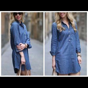 Jcrew denim dress size 4